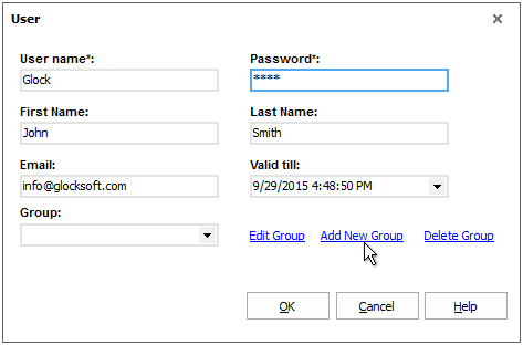 G-Lock EasyMail add user group