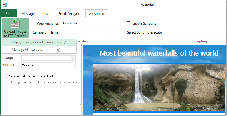 upload pictures to the web server from G-Lock EasyMail7