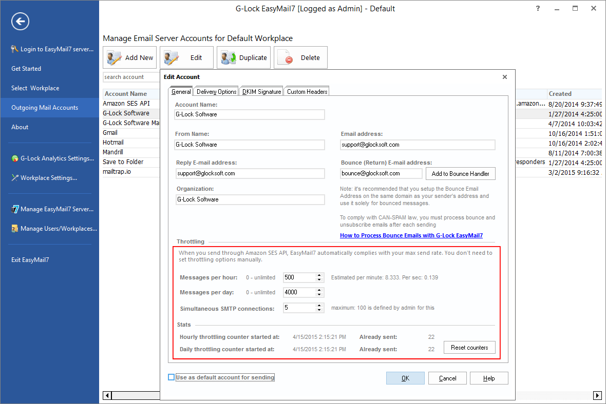 Throttle Email Sending to Ensure Delivery