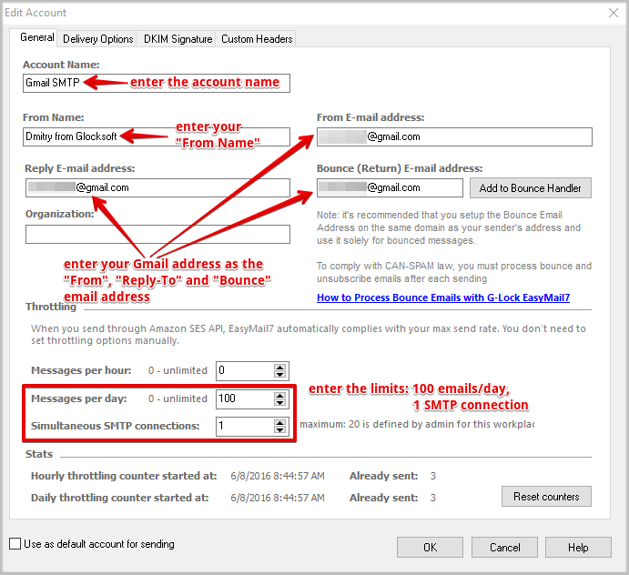 How to Use Gmail's SMTP Settings in EasyMail7